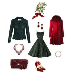 """Blogmas Day 8: Mistle Toe Look for Christmas Eve"" by maya-horikawa on Polyvore"