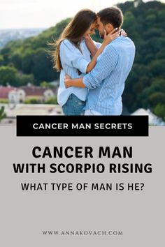 Have you met a super alluring Cancer man that you feel sensually drawn to? Perhaps you're dating a Cancer man that feels things very deeply but has a hot temper. Maybe he is a Cancer man with Scorpio rising sign. Keep reading to find out more about him. #zodiac #sign #horoscope #astrology #love #relationship #dating #cancer #cancer_man #facts #traits #in_love #dating_cancer #scorpio #rising #men #in_bed #attract #seduce #keep #type #kind Love Astrology, Your Man, Scorpio, Horoscope, How To Find Out, Zodiac, Feels, How Are You Feeling, Scorpion