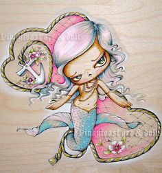 Little Tattoo Mermaid by Pinkytoast