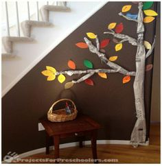 Top 32 Easy DIY Thanksgiving Crafts Kids Can Make-newspaper thankful tree Thanksgiving Crafts For Kids, Thanksgiving Activities, Autumn Activities, Thanksgiving Decorations, Fall Crafts, Holiday Crafts, Holiday Fun, Diy Crafts, Thanksgiving Tree