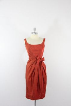 1950's Vintage Dress  Gorgeous Rust by VintageFrocksOfFancy, $220.00