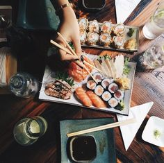 In love with this sushi spread.