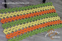 Tapete de Crochê Minute - Receita de Croche com o Passo a Passo no Link http://www.aprendendocroche.com/receitas-de-croche/video-aula.asp?resid=1542&tree=11