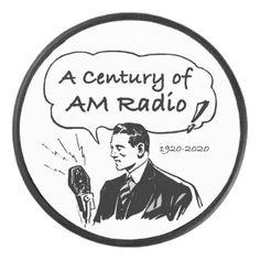 A Century of AM Radio Hockey Puck - vintage gifts retro ideas cyo