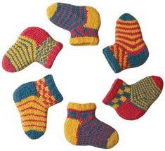 ColorJoy by LynnH--Lynn DT Hershberger--Chippy Socks for Kids (Cuff Down, birth… Knitting Socks, Baby Knitting, Crochet Baby, Knit Crochet, Knitted Baby, Knitting Designs, Knitting Projects, Knitting Patterns, Knitting Ideas