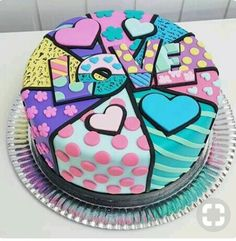 The Cake Decorating Business Pretty Cakes, Cute Cakes, Beautiful Cakes, Amazing Cakes, Patchwork Cake, Quilted Cake, Patchwork Heart, Gateaux Cake, Valentine Cake