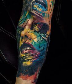 Colorful Portrait - tattooideas247.com/portrait-splas…