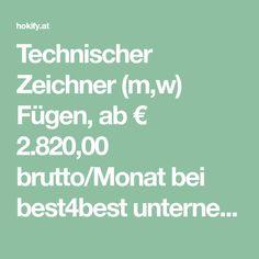 Technischer Zeichner (m,w) Fügen, ab € 2.820,00 brutto/Monat bei best4best unternehmens- personalentwicklung KG - in 30 Sek. bewerben - Job 10492531 | hokify