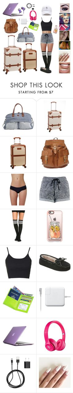 """""""Airport Outfit: Lukas Rieger"""" by california-daydreams ❤ liked on Polyvore featuring Quiksilver, Rockland Luggage, Topshop, Casetify, Minnetonka, Royce Leather, Speck, Beats by Dr. Dre, Apple and PhunkeeTree"""