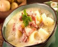 Crock Pot Ham & potato soup.. perfect for a cold day and only 151.7 calories per serving! WW 4