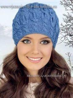 вязание спицами зимней шапочки для женщин