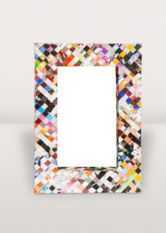 Why throw away perfectly good paper when it can be cut into strips and woven into colourful, durable picture frames? Indonesian artisans twist and weave to create fun and funky frames to hold your favourite images. Each one is unique!