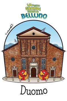Cattedrale di San Martino Belluno Dolomiti Veneto Italia by Luca Stella