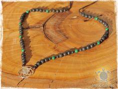 Sacred Geometry Necklace Beaded yoga Mala 925 by MaKarmaCreations