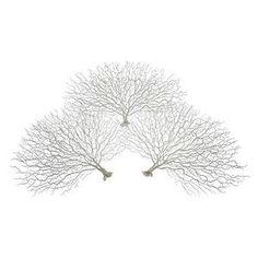 Coral Fan - Set of 3