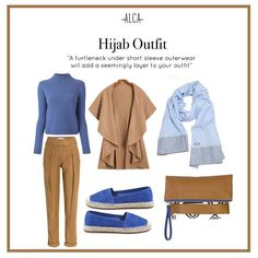 Don't throw away your short sleeve outerwear, Ladies! Simply pair it with a turtleneck and you're all set! Ootd Hijab, Hijab Chic, Hijab Outfit, Dress Outfits, Office Outfits, Office Wear, Kebaya Dress, Muslim Women, Hijab Fashion