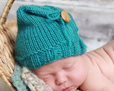 Hand Knit Newborn Hat Newborn Photo Prop Baby by TuquesEtBoutons