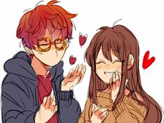 Mc, otome game, and mystic messenger 이미지 Seven Mystic Messenger, Mystic Messenger Fanart, Mystic Messenger Characters, Luciel Choi, Messenger Games, Ship Drawing, Manga, Cute Love, Anime Love