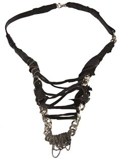 EMANUELE BICOCCHI - Braided Leather Silver Necklace - FKPLN1-SILVER & BLACK LEATHER - H. Lorenzo