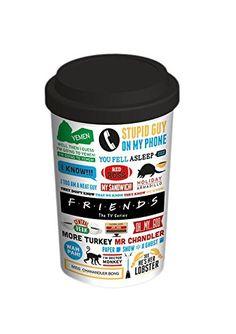 Friends Iconographic Travel Ceramic Mug, Multi-Colour