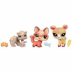 Littlest Pet Shop Pets 3Pack Squirrel, Deer Fox by Hasbro. $34.99. Includes Fox, Deer & Squirrel. Your LITTLEST PET SHOP collection just got a little more special. Glimmering details make them shimmer n shine. How cute!Prepare for loads of petlovin fun when you welcome this trio of pets and their accessories to your LITTLEST PET SHOP collection! Theres never a dull moment with these bigeyed friends around. Take your squirrel, deer and fox pets along on all your adventures, and ...