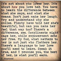 How you Love her !
