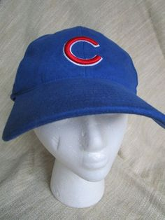 5ee12628 Nike Chicago Cubs MLB Ball Cap Hat 100% Cotton One Size Velcro Strap Blue #