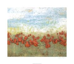 The World Art Group, Coral Poppies I, by Jennifer Goldberger