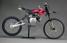 Motoped - The Motoped kit turns your little Honda XR50 pitbike into a performance motorized bicycle. | Werd