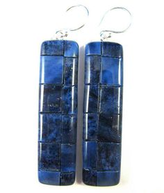 Polymer Clay Earrings Fabulous Faux Mosaic by DivaDesignsInc
