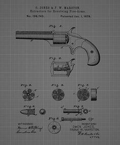 Poster art print vintage gatling gun blueprint 8 x 10 poster revolver firearm patent blueprint drawing blueprint drawinggun artgun malvernweather Choice Image