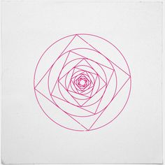 #273 A rose is a rose – A new minimal geometric composition each day