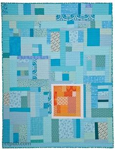 Cheryl Arkison –– Celebrate great fabric by using every scrap Are scrap piles wreaking havoc in your sewing space? Not sure what to do with all those tiny bits of gorgeous prints you hate to part with Strip Quilts, Blue Quilts, Quilt Blocks, Aqua Quilt, Jellyroll Quilts, Scrappy Quilts, Kid Quilts, Batik Quilts, Crumb Quilt