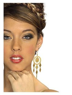 Gold Coin Earrings | Jewelry Accessories & Makeup for Halloween Costumes
