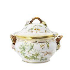 Royal Copenhagen Flora Danica Dinnerware round soup tureen