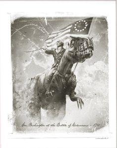 George Washington on a raptor