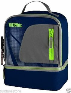 Thermos Insulated Lunch Bag Cooler, Dual Compartment Lunch Kit with Mesh/front Pocket (Navy and Gray) Thermos,http://www.amazon.com/dp/B00GOFXAHK/ref=cm_sw_r_pi_dp_RfO1sb0MVS5W5SBE