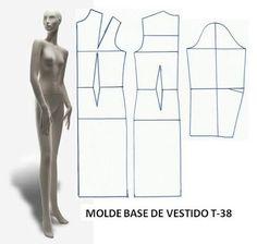 T-38 DRESS BASE MOLD - Custom Made Fashion Molds