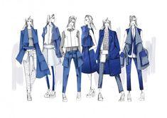 Fashion Portfolio Layout, Fashion Design Sketchbook, Fashion Illustration Sketches, Fashion Design Drawings, Illustration Mode, Fashion Sketches, Fashion Line, Fashion Images, Fashion Art