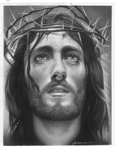 Black and white drawings of jesus jesus christ hd pencil drawing of commiss Jesus Christ Drawing, Jesus Drawings, Face Drawings, Jesus Tatoo, Christus Tattoo, Jesus Sketch, Jesus Tattoo Design, Pencil Drawing Images, Pencil Art