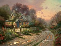 Thomas Kinkade - Teacup Cottage  1996