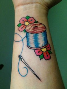 Pretty happy with my wife's needle and thread (her first) by Alain at Euphoria in Tallahassee, FL. | Tattoos Pin