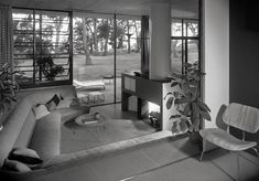 Case Study House #9.  Entenza House. Eames and Saarinen.  Pacific Palisaides CA .