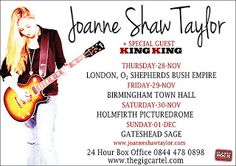 Joanne Shaw Taylor confirms November UK tour with special guest King King