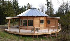 Smiling Woods Yurt Kits for Round, Permanent Living Tiny House Kits, Tiny House Blog, Tiny House Cabin, Tiny House Design, Tiny Houses, Dome House, House Roof, Yurt Kits, Metal Home Kits