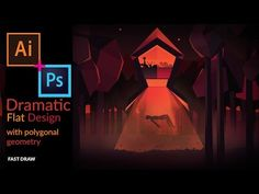 Drawing a Dramatic Movie Poster Style backround with polygonal geometry in illustrator & photoshop