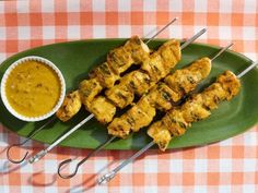 Cherry Pepper-Honey Mustard Grilled Chicken Kabob - Jeff Mauro Recipe from The Kitchen (Geoffrey mentioned not as hot as looked while preparing) Turkey Recipes, Beef Recipes, Chicken Recipes, Cooking Recipes, Vegemite Recipes, Recipies, Honey Sauce, Honey Mustard Sauce, Mayonnaise