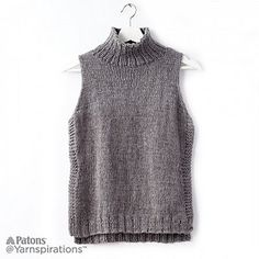 Ravelry: Sleeveless Knit Turtleneck pattern by Yarnspirations Design Studio
