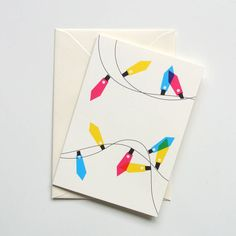 Festive Lights Mixed Set Of Eight Christmas Cards