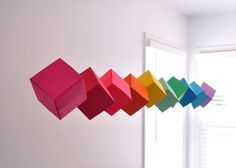 Origami cubes mobile by Annilygreen